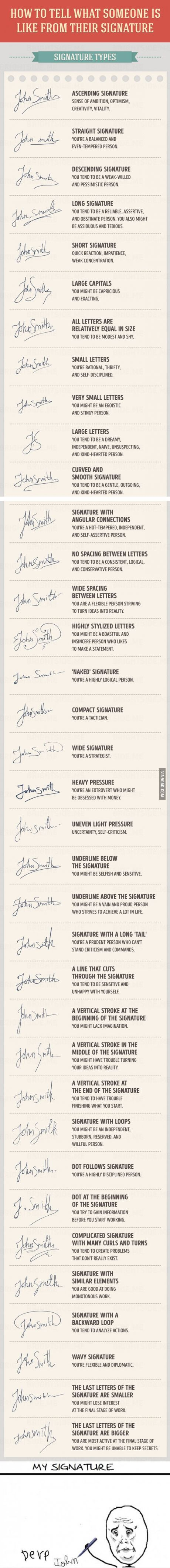 What does your signature say about you? (Mine is the last one..lol)