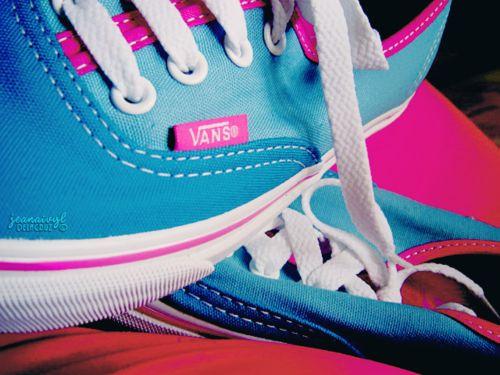 vans azul y rosa