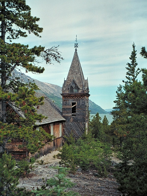 Ahh this church is an inspiration. Catholic and I think maybe Anglican? combined masses and shared their church. In the town of Lake Bennett at the end of the Chilkoot trail.