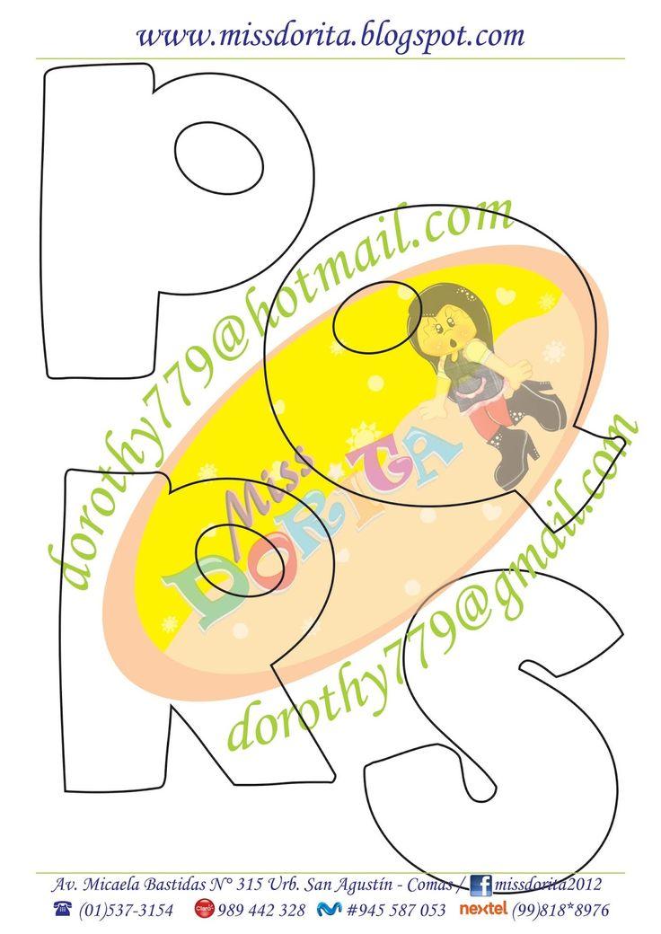 Best 25 tipos de letras bonitas ideas on pinterest - Letras infantiles para decorar ...