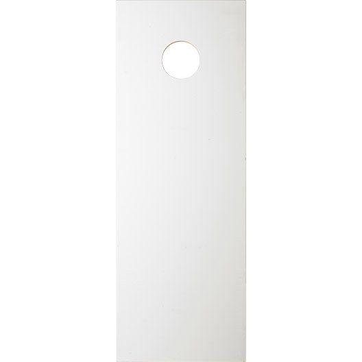 Porte coulissante isoplane, H.204 x l.73 cm
