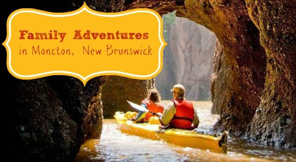 Family Adventures in Moncton New Brunswick Kayaking Hopewell Rocks High Tide