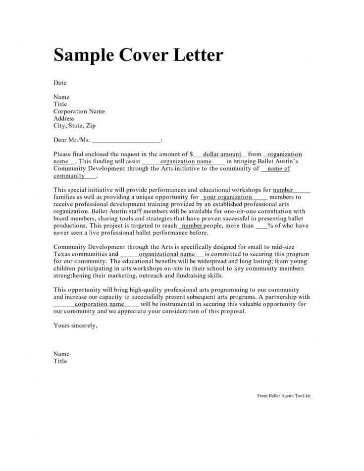 95 best Cover letters images on Pinterest Cover letter sample - resume cover letter template