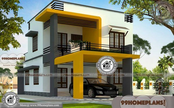 Modern Box House Design Collections Low Budget Double Floor Plans Kerala House Design Modern Style House Plans Box House Design