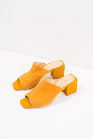 FRS Yellow Suede Mules