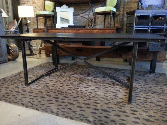 Projects Idea Of Steampunk Dining Table. Unique Steel Dining Table Custom Sizes Available 81 best table images on Pinterest  tables