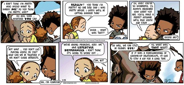 The Boondocks Comic Strip, July 25, 1999 on GoComics.com