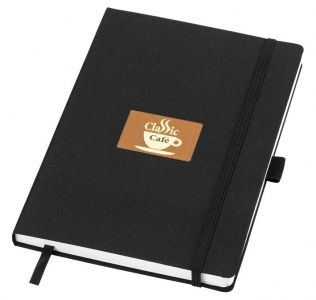 Promotional Balmain Notebook midi A5, with fabric cover. Solid black