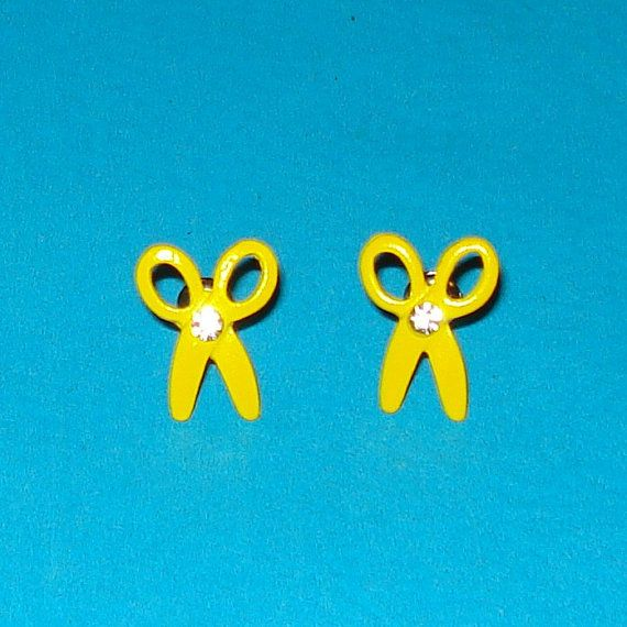 Hey, I found this really awesome Etsy listing at https://www.etsy.com/ca/listing/122305677/bright-yellow-and-rhinestone-scissor