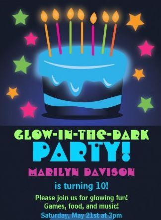 Image Result For Glow Party Invitation Free Templates Glow Party