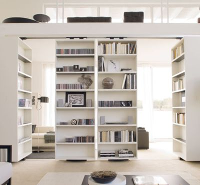 :: INTERIORS :: DETAILS clever detail - book shelf feature walls that rotate for access to spaces behind #interIors #details