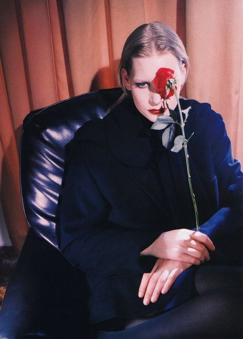 Jil Sander, 1990. Photographer: Jean-Francois Lepage. Model: Kirsten Owen.