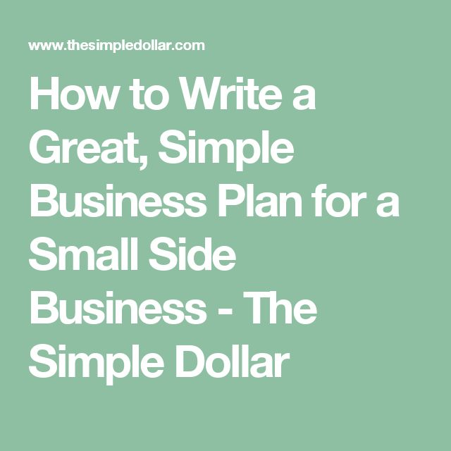 how to write the best business plan