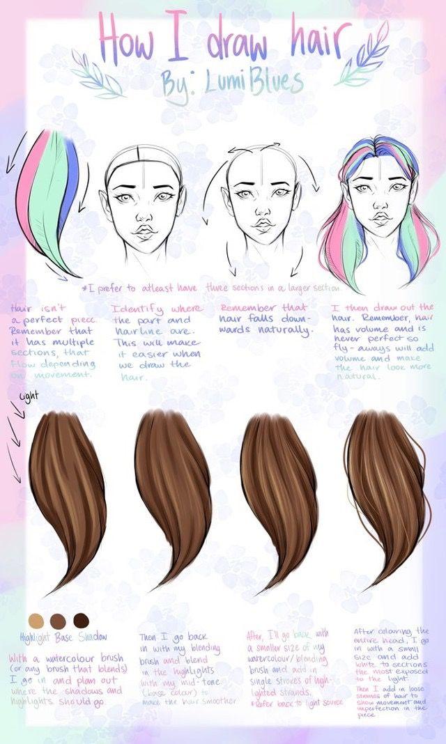 By LumiBlues on IG - human art hair tutorial