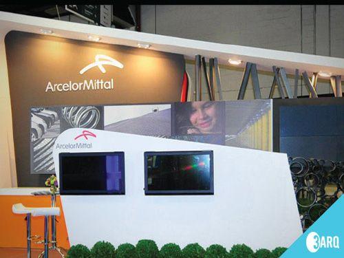 Estande criado para a Arcelor Mittal.