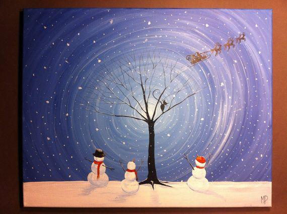 Original Whimsical Acrylic PaintingWe Believe by MichaelHProsper, $50.00