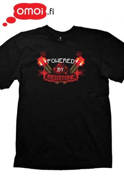 Minecraft t-shirt: Powered by Redstone (Unisex) - 19,00EUR : Manga Shop for Europe, A great selection of anime products