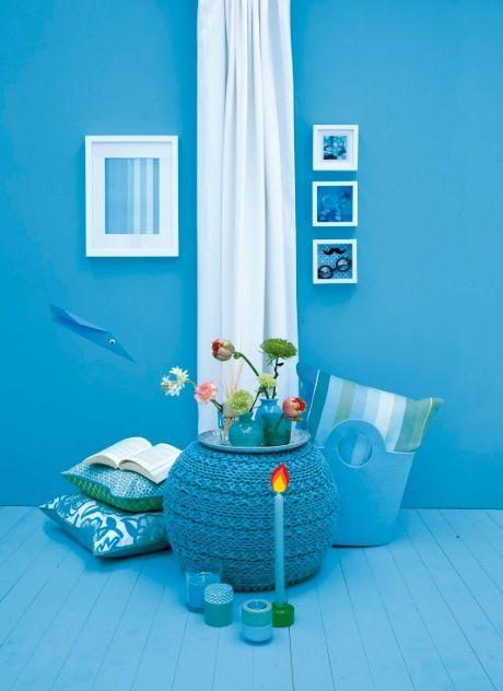 Kleur je interieur blauw met hema