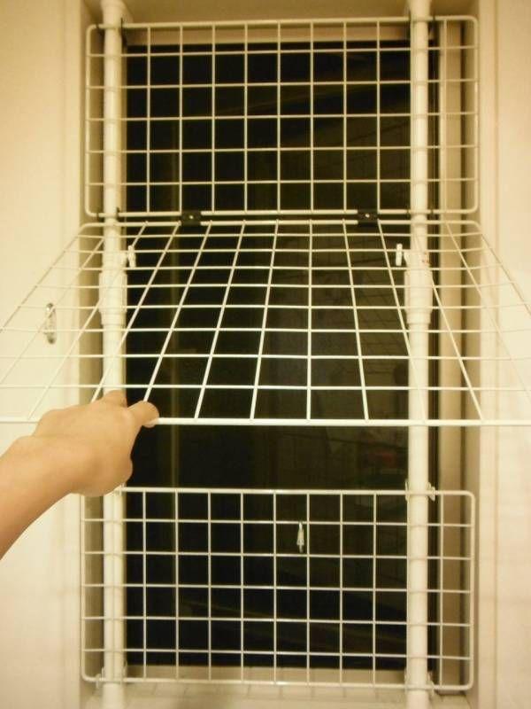 猫脱走防止窓 猫好きわーきんぐままの育児にっき 猫 網戸 対策 猫 猫 ケージ おしゃれ