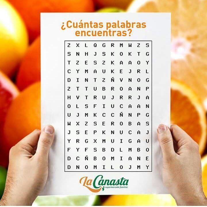 #PASATIEMPO Estamos muy frutales esta semana! Cuántas palabras puedes encontrar? Limon - Naranja- Toronja - Lima - Acido - Citrico - Frutas - Sabores - Frescura COMENTANOS! #SopaDeLetras #Frutas #SupermercadoFamiliar #Culturacanasta #Sogamoso