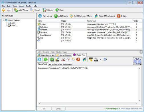 Free Macro Recorder For Creating Macros On Windows: MacroToolbar