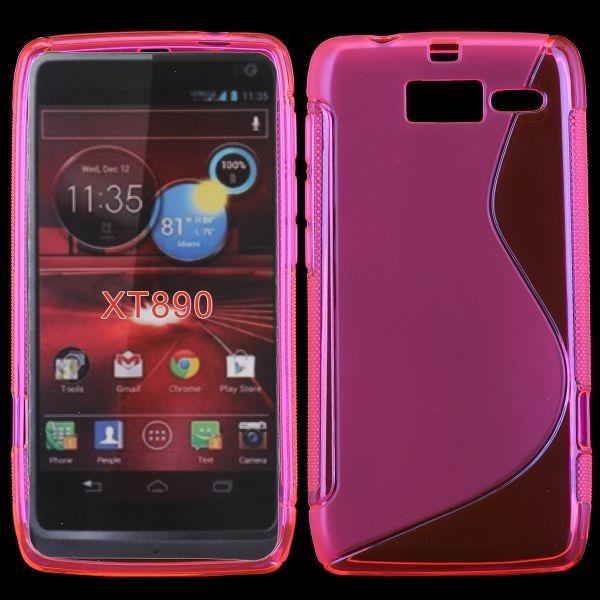 S-Line Transparent (Hot Rosa) Motorola RAZR i Deksel