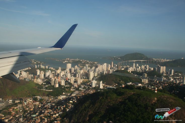 "Flying over Vitoria, Brazil.   ""The Truth about Flying"": http://www.confiscatedtoothpaste.com/the-truth-about-flying/"