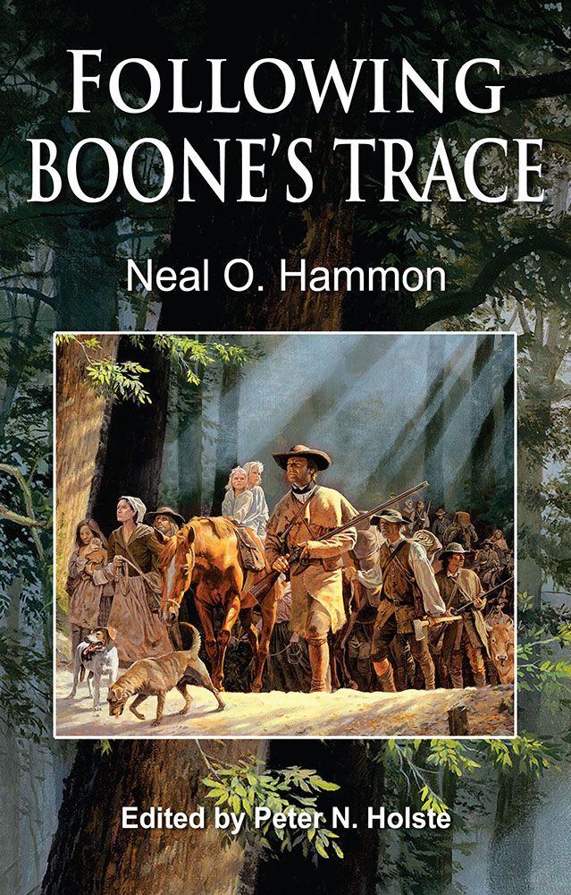 "Following Boone's Trace. Author Neal O. Hammon precisely details the route that pioneer Daniel Boone took to carve a route through the Kentucky wilderness for land-seekers. Hammon touches on interesting stories, the successes and failures, and the unintended consequences of Boone's journey—for which we all are richer. In the words of Richard Taylor, former Kentucky Poet Laureate, ""Hammon's meticulous, stubborn research makes him the dean of living Kentucky frontier historians."" Paperback…"