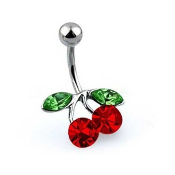 Bling Jewelry Bling Jewelry Red Cz Cherry Belly Ring 316l Stainless... (41 BRL) ❤ liked on Polyvore featuring jewelry, red, body jewellery, imitation jewelry, cherry jewelry, cz jewelry and cubic zirconia jewelry