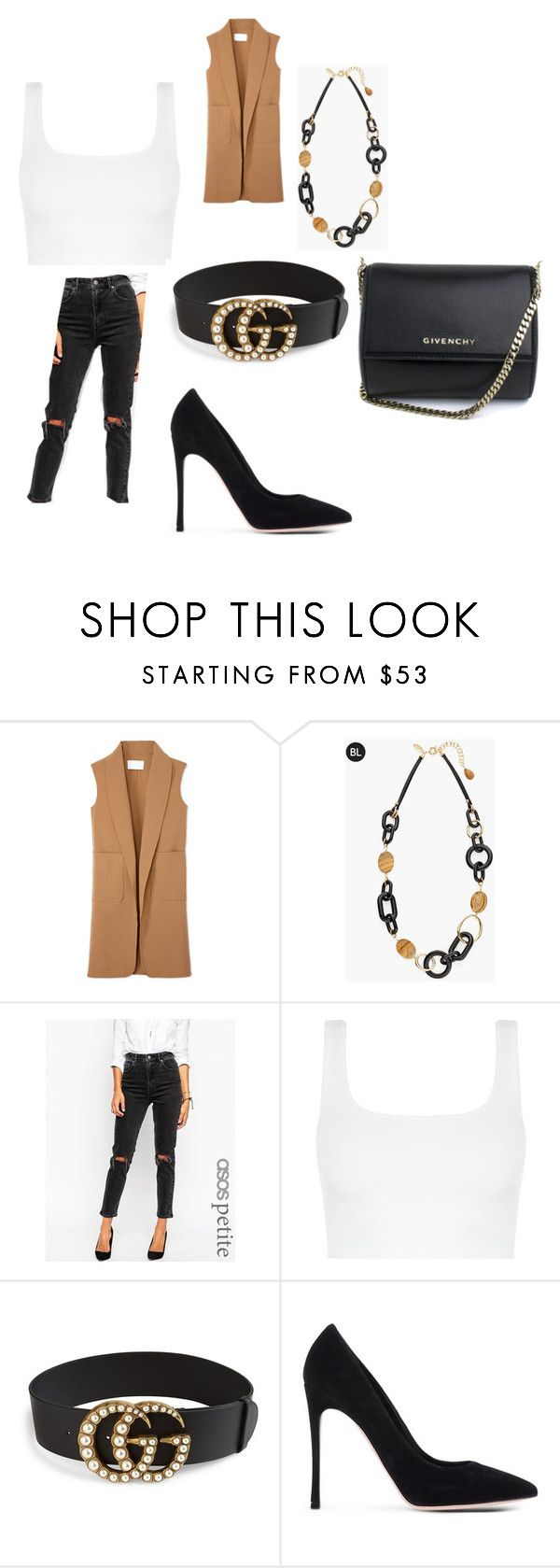"""""""Untitled #1365"""" by alessiaaaaaaaaa ❤ liked on Polyvore featuring Alexander Wang, Chico's, ASOS, Gucci, Gianvito Rossi and Givenchy"""