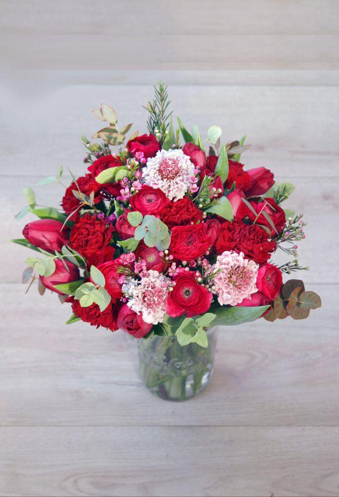 Un bouquet pour la Saint Valentin - Madame Artisan Fleuriste