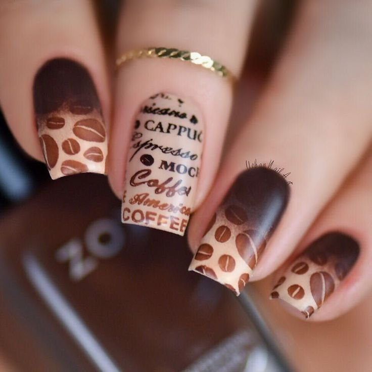 Coffee nails! 'First I have the coffee then I do the things'These are inspired by my bestie Jane@jane.bussenschutt love you coffee head! @moyra_nailpolish stamping plate 'Sweet dreams' @zoyanailpolishaustralia 'Desiree' brown nail polish www.zoya.com.au @colorclubnaillacquer 'Nature way' cream nail polish 'Speed up' fast drying top coat @urbannailart 'Simply peel' liquid latex barrier @myblisskiss www.myblisskiss.com (peel off stuff I apply around my nail for easier clean up) by urbanna...