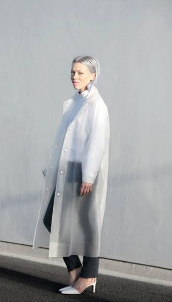 *MUJI 無印良品 sheer raincoat