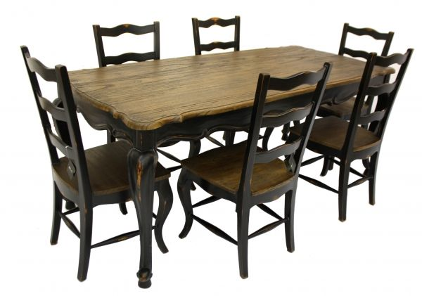 painted dining furniture | ... Rustic Family Dining Table & and 6 Chairs set, Designer Painted | eBay
