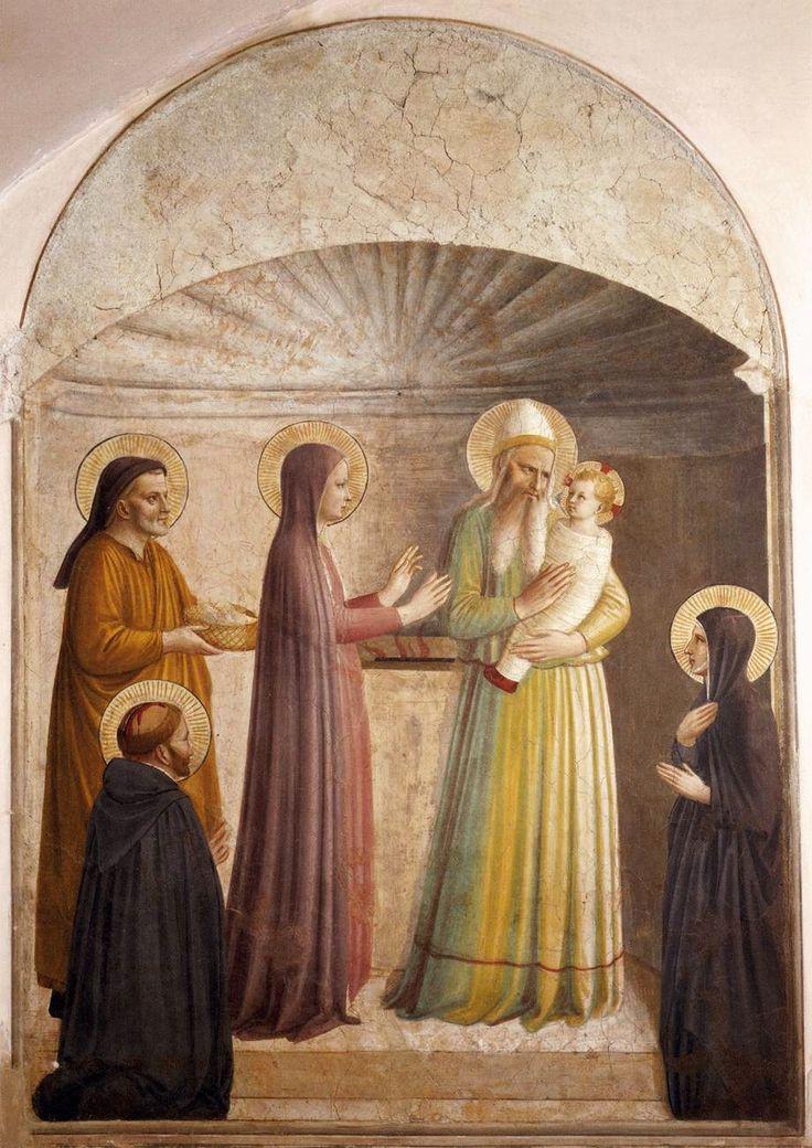 Fra Angelico (Italian1387-1455) Presentation of Jesus in the Temple.