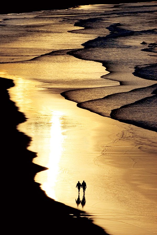 """Walking on the Beach with Sunset Light"" ~ Photography by Pedro Felizardo on…"