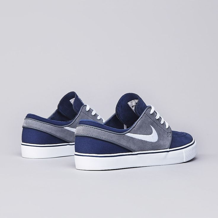 DOPE! Nike SB Stefan Janoski Midnight Navy / White - Cool Grey