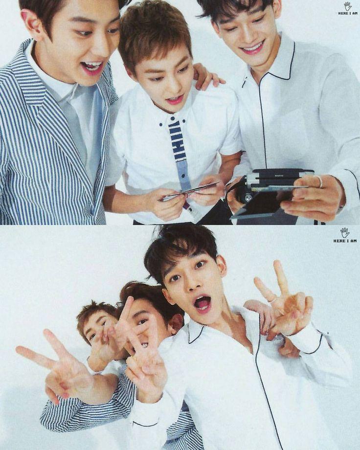 Chanyeol, Xiumin & Chen being cute
