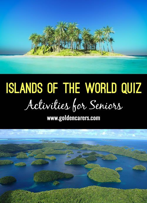 # World Ocean's Day - June 8 # A fun Islands of the World quiz for seniors!