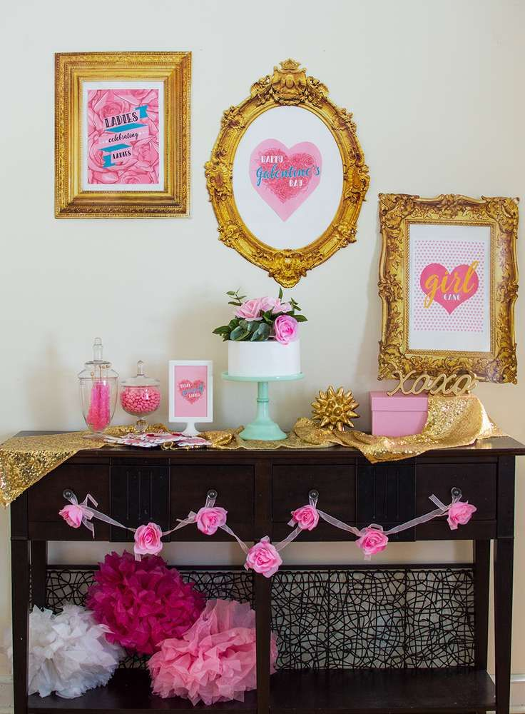 Galentineu0027s Day Valentineu0027s Day Party Ideas