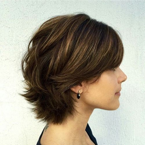 #short layered #haircut for thick hair