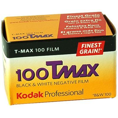 Kodak 100 T-Max 135 ISO100 film. KODAK T-MAX 100 Professional Film is a continuous-tone panchromatic black-and-white negative film for general outdoor and indoo