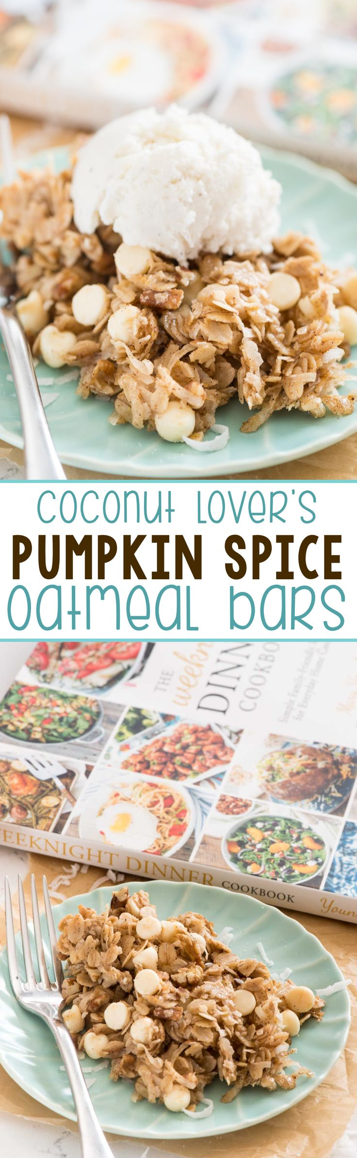Easy Coconut Lover's Pumpkin Spice Oatmeal Bars - this simple dessert recipe is…
