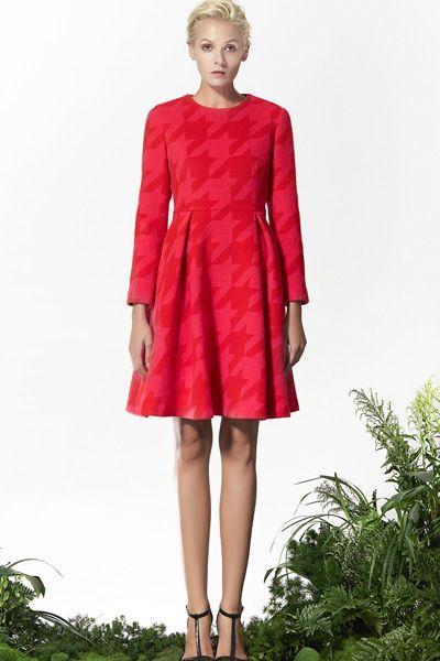 Red Wool Dress, Flared Dress, Xmas Dress! http://www.lastyleloft.com/online/shop-by-designer/vanessa-cheung/