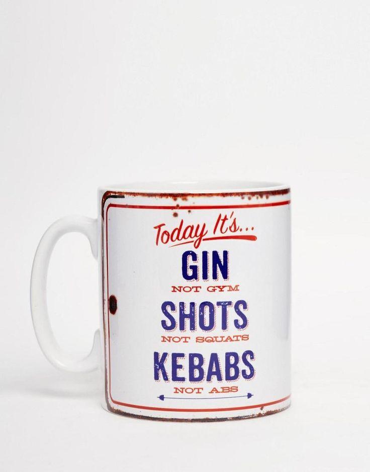 Gifts | Brainbox Candy Gin Not Gym Mug at ASOS