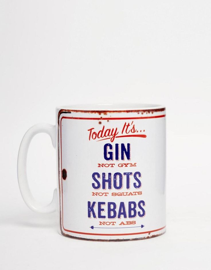 Gifts | Brainbox Candy Gin Not Gym Mug at ASOS