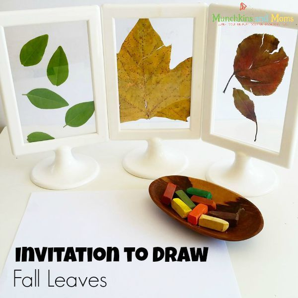 Invitation to draw fall leaves