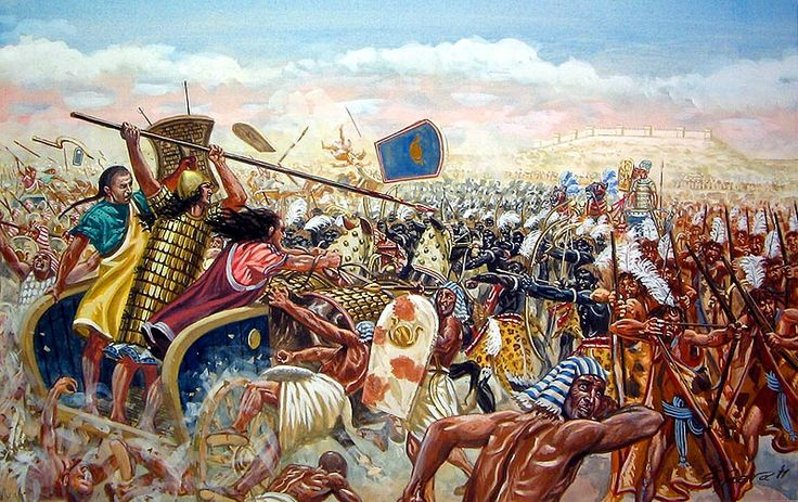 """The Battle of kadesh"", Giuseppe Rava"