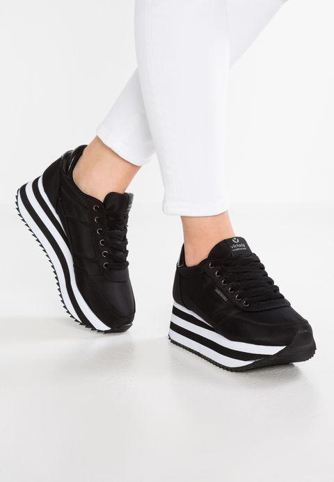Victoria Shoes DEPORTIVO PLATAFORMA - Baskets basses - black - ZALANDO.FR
