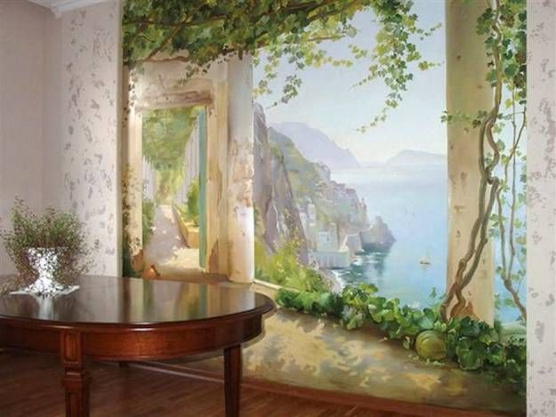 Best 25 painted wall murals ideas on pinterest hand for Best projector for mural painting